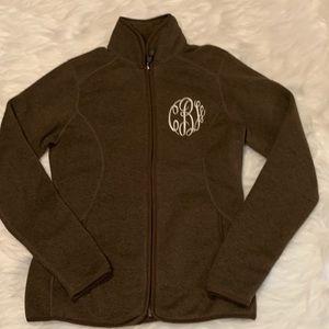 Nwot storm creek brown fleece knit jacket
